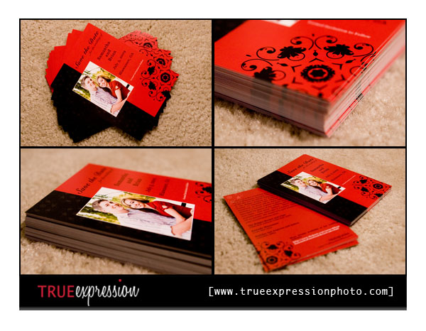 Save the Date photo card product samples
