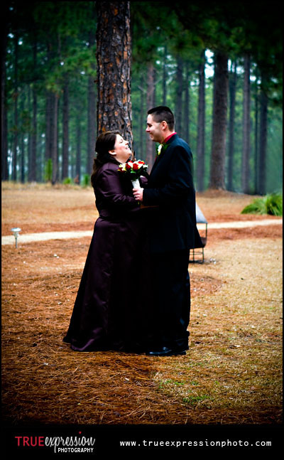 photograph of the couple outside at Little River Plantation