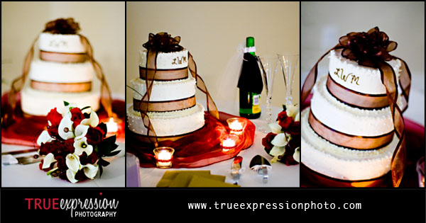 photographs of the wedding cake