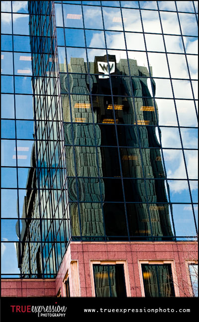 reflect of the W Hotel in Midtown Atlanta