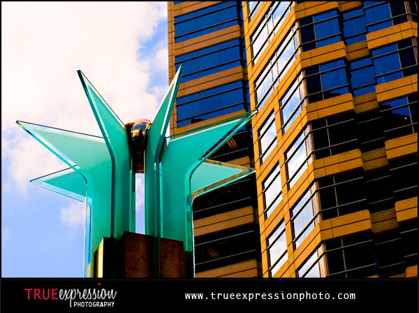photograph by Kelly LaBruyere of interesting architecture in Midtown atlanta