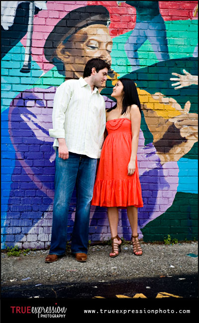 fun engagement photo in Atlanta, GA