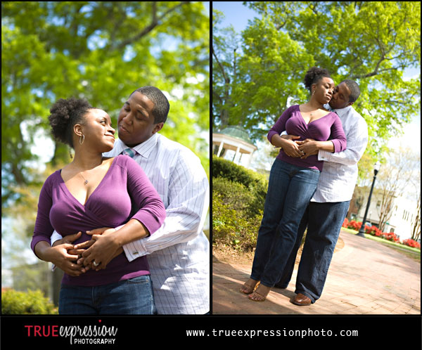 engagement photos in Marietta Square