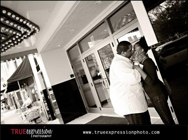 Marietta Square engagement photo