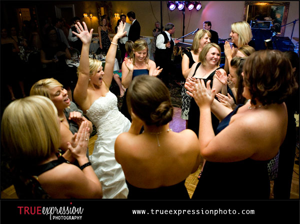 bride celebrating with her friends