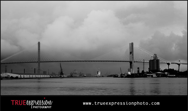 the Talmadge Memorial Bridge over the Savannah River