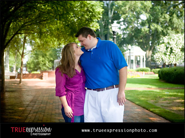 engagement photos at Marietta Square