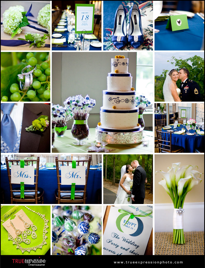 Green and Blue details from Atlanta weddings