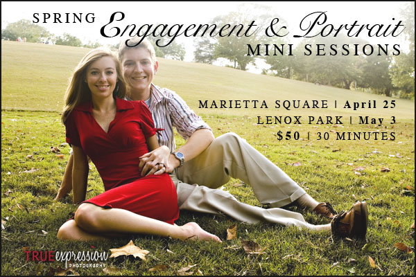 spring engagement and portrait mini sessions by True Expression Photography in Alanta