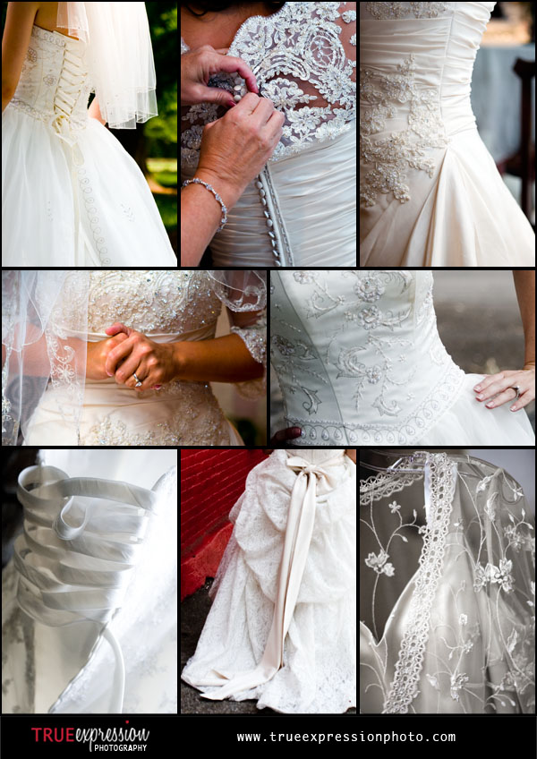 wedding dress photos from various 2008 brides by Atlanta wedding photographer Kelly LaBruyere