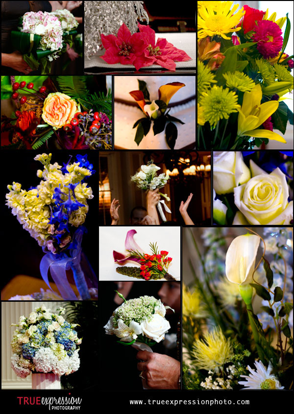 wedding flower photos for various atlanta weddings
