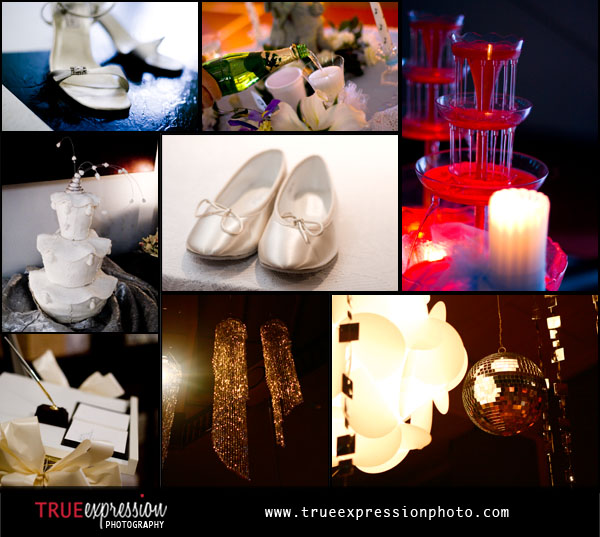 Photos of wedding details by Kelly LaBruyere